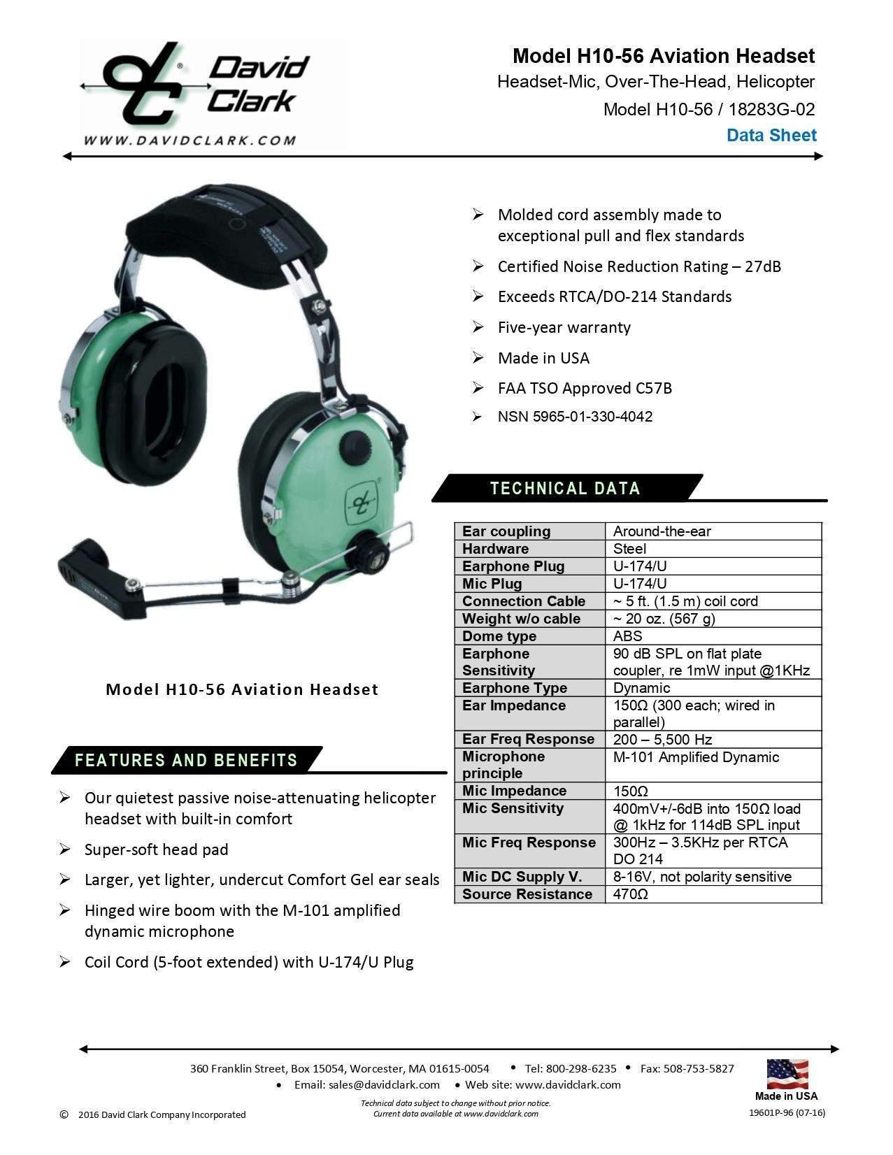 H10-56 headsets buckerbook