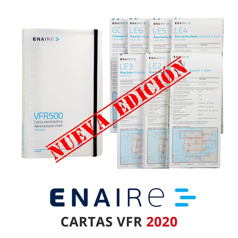 Cartas Enaire 2020 VFR Nueva Edicion España Cartografía Visual Aerea